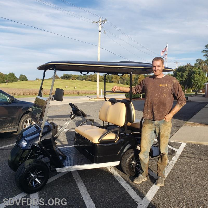 Mr. George Crooks is the proud winner of his new STAR 36-2-2 Golf Cart. Congratulations George!